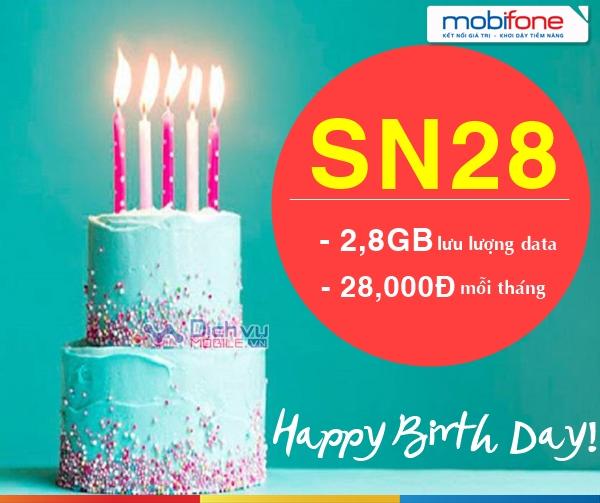 Hướng dẫn đăng ký gói SN28 Mobifone nhận 2,8GB mỗi ngày