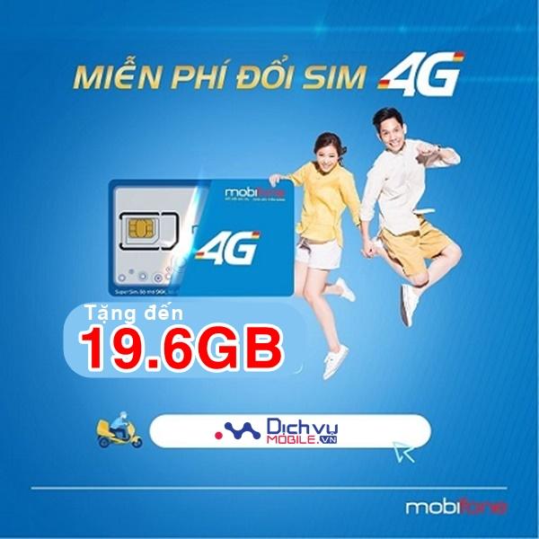 Mobifone khuyến mãi đổi sim 4G tặng ngay 19.6GB miễn phí