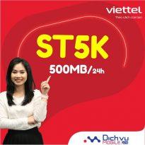 Hướng dẫn đăng ký gói ST5K Viettel nhận 500MB chỉ 5k