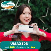 Hướng dẫn đăng ký gói UMAX50N Viettel nhận 5GB chỉ với 50,000đ