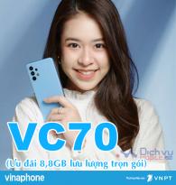 Hướng dẫn đăng ký gói VC70 Vinaphone nhận 8,8GB data chỉ 70k