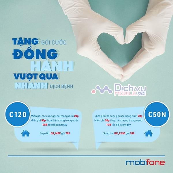 Mobifone tang goi cuoc C50N cho thue bao vung dich