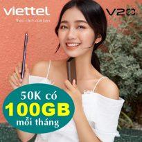 Đăng ký gói cước Viettel 50.000/tháng có 100GB siêu HOT