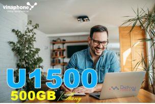 Hướng dẫn đăng ký gói cước U1500 Vinaphone nhận ưu đãi 500GB mỗi tháng