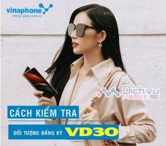 kiem tra doi tuong dang ky goi cuoc VD30 Vinaphone
