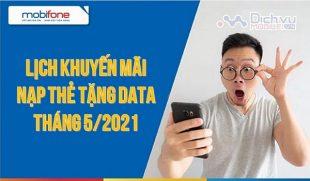 lich khuyen mai nap the tang data thang 5