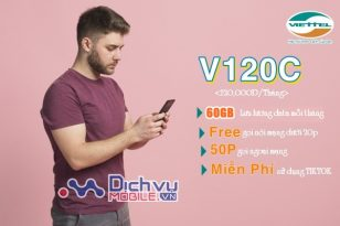 Hướng dẫn đăng ký gói V120C Viettel nhận 2GB/ ngày miễn phí gọi dưới 20 phút