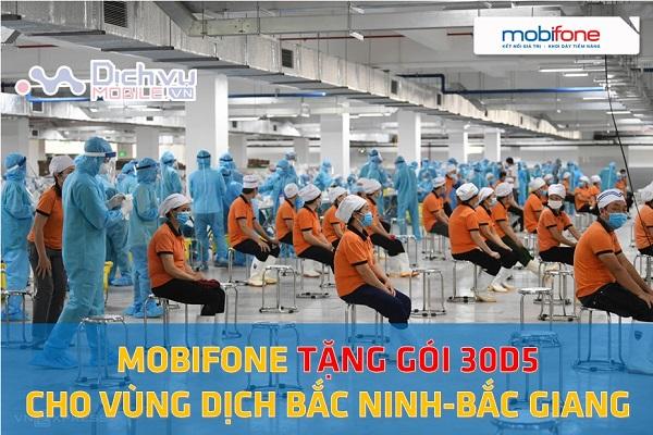 Mobifone tang goi cuoc 30D5 cho vung dich Bac Ninh va ac Giang