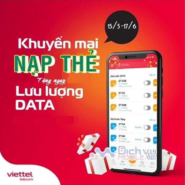 Viettel khuyen mai the nap cong data