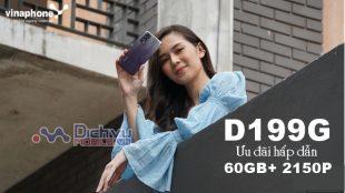 Cách đăng ký gói D199G Vinaphone chỉ 199k nhận 60GB và 60GB, 2150 phút