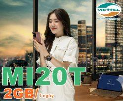 Cách đăng ký nhanh gói MI20T Viettel có 2GB chỉ 20K dùng 7 ngày