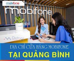 Địa chỉ cửa hàng giao dịch Mobifone ở Quảng Bình