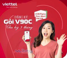 Hướng dẫn đăng ký gói 3V90C Viettel tặng 1GB/ Ngày free thoại và TIKTOK