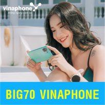 Cách đăng ký gói cước Big70 Vinaphone khuyến mãi đến 4,8GB data 4G mỗi tháng chỉ 70.000đ