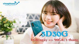goi cuoc 3D30G Vinaphone