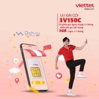 Hướng dẫn đăng ký gói 3V150C Viettel miễn phí thoại nhận 3GB/ ngày