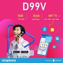 Hướng dẫn đăng ký gói D99V Vinaphone tặng 30GB miễn phí thoại chỉ 99K