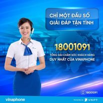 Thông Báo: Tổng đài Vinaphone 18001091 thay đổi các nhánh giải đáp khách hàng