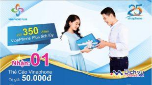 Khuyến mãi đổi điểm Vinaphone Plus lấy thẻ cào tại Bắc Giang