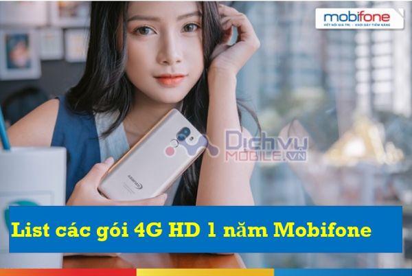 List tổng hợp các gói 4G Mobifone HD 1 năm ưu đãi data siêu khủng