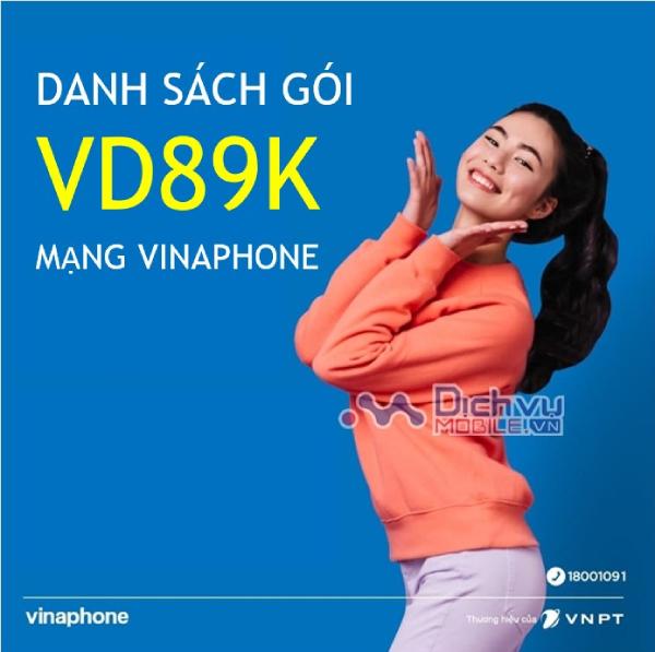 Danh sách các gói cước VD89K mạng Vinaphone chu kỳ 1tháng, 6 tháng, 1 năm nên đăng ký