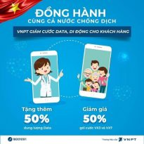 HOT: Vinaphone tặng 50% data giá không đổi, giảm cước viễn thông, tặng phút thoại cho tất cả các thuê bao