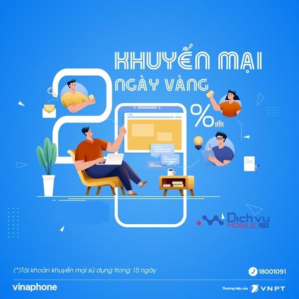 Khuyến mãi VinaPhone 20% giá trị thẻ nạp duy nhất ngày 17/9/2021