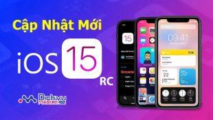 Cập nhật IOS 15 RC cho điện thoại Iphone