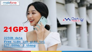 Cách đăng ký gói cước 21GP3 Mobifone