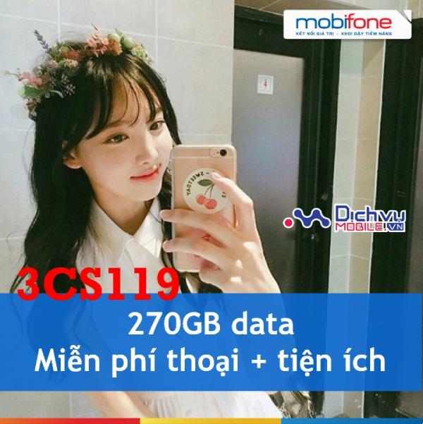 Đăng ký gói cước 3CS119 Mobifone