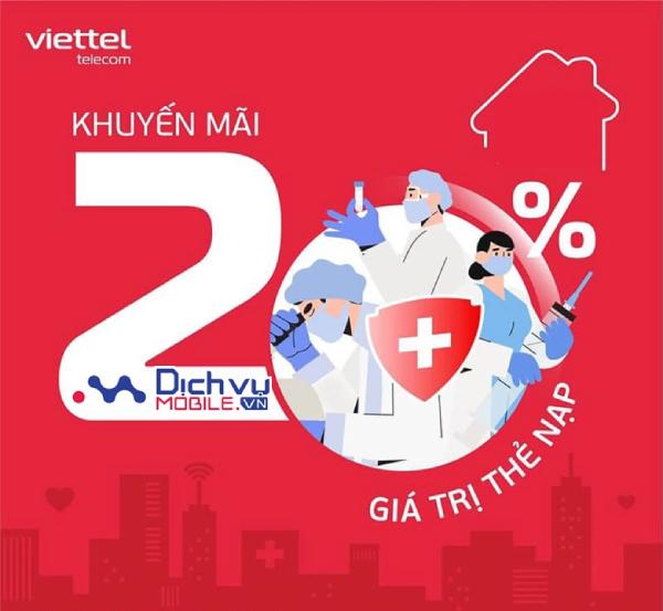 Khuyến mãi thẻ nạp Viettel ngày 25/9/2021