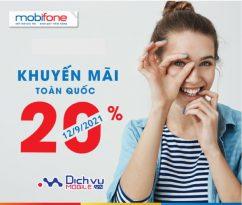 Mobifone khuyến mãi 2 chương trình thẻ nạp ngày 12/9/2021