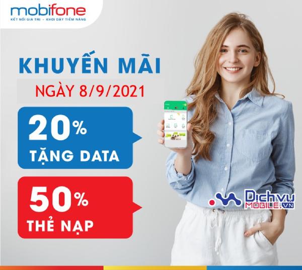 Mobifone thẻ nạp và data ngày 8/9/2021