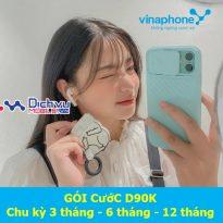 Các gói cước D90K Vinaphone chu kỳ dài