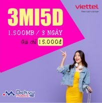 Cách đăng ký gói cước 3MI5D mạng Viettel