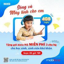 Cách đăng ký gói data HS Mobifone nhận 4GB/ ngày miễn phí 100% cước