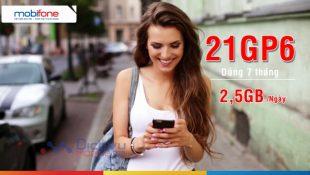 Hướng dẫn đăng ký gói 21GP6 Mobifone có 2GB/ ngày free data tiện ích