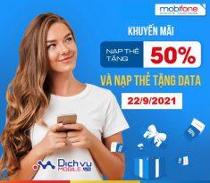 Khuyến mãi thẻ nạp Mobifone ngày 22/9/2021