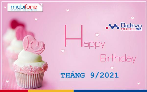 Mobifone mừng sinh nhật khách hàng tháng 9/2021