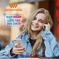 Vietnamobile khuyến mãi 300% giá trị thẻ nạp tặng data ngày 7/9/2021