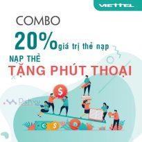 Viettel khuyến mãi tặng 20% thẻ nạp, tặng phút thoại duy nhất 28/9/2021