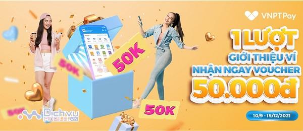 Khuyến mãi chia sẻ ứng dụng VNPT Pay nhận 50k