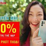 Viettel khuyến mãi tặng 20% thẻ nạp và phút thoại duy nhất 18/10/2021